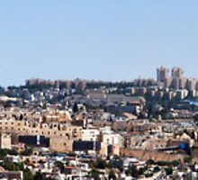 Jerusalem old city panorama by Alex Tsuker