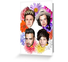 one direction flowers Greeting Card