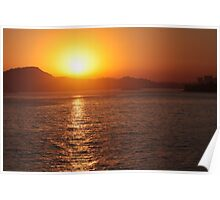 Sunset in Niteroi - Rio de Janeiro - Brasil Poster