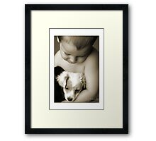 my baby Framed Print