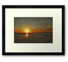 My Sun Sets to Raise Again Framed Print