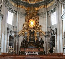 """Cathedra Petri or """"Throne of St. Peter"""" by Vanessa Goodrich"""