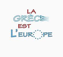 """La Grece est l' Europe"" slogan Tank Top"