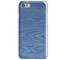 Blue Woodgrain by Kordial Orange iPhone Case/Skin