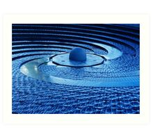 Fountain in Blue Art Print