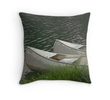 Poster Canoes Throw Pillow