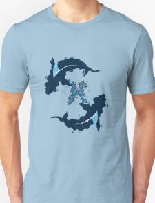 Deadly Waters: Pisces Sharks Unisex T-Shirt
