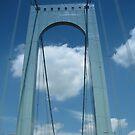 Whitestone Bridge Queens N.Y. by Mary Tomaselli