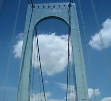 Whitestone Bridge Queens N.Y. by Mary Tomaselli