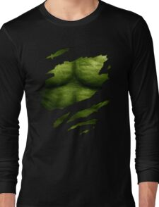 The Incredible Green Super Soldier Long Sleeve T-Shirt