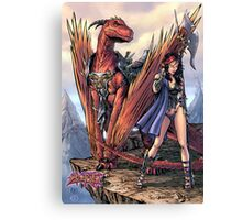 Kailyn The DragonRider Canvas Print