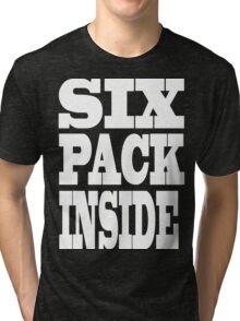 Funny Six Pack Inside Tri-blend T-Shirt