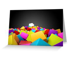 colourful blocks Greeting Card