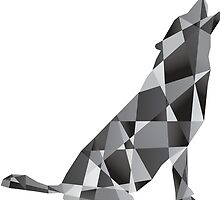 Cubist Howling Wolf by ArtisticCalm