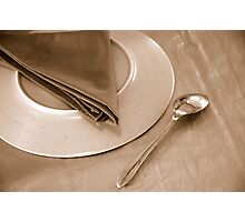 dinner place setting Photographic Print