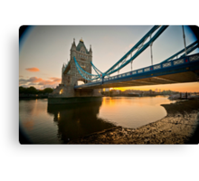 Sunrise at Tower Bridge. London. UK. Canvas Print