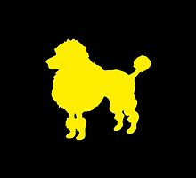 Yellow poodle dog silhouette art by CuteCartoon