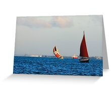 underway by sail Greeting Card