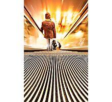 Escalator warped  Photographic Print