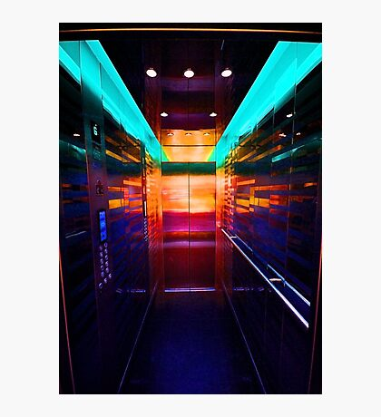The Neon Elevator Photographic Print