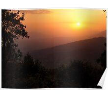 Himalayan sunset Poster