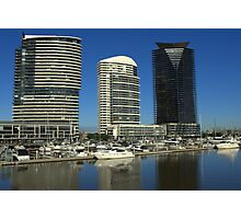 A beautiful morning at the Docklands Photographic Print