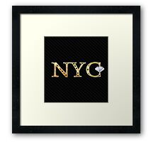 New York City Acronym, precious Framed Print