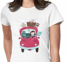 Girly Car Womens Fitted T-Shirt