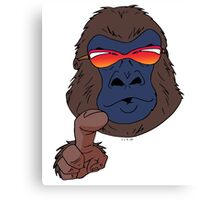 Cool gorilla with red sunglasses  Canvas Print