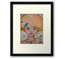 the wanting bee Framed Print
