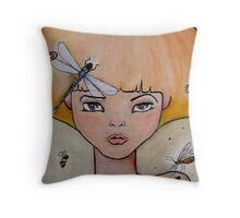 the wanting bee Throw Pillow