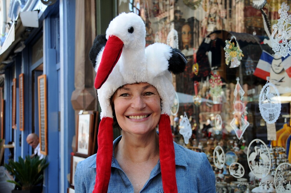 Stork Hat... by Jean-Luc Rollier