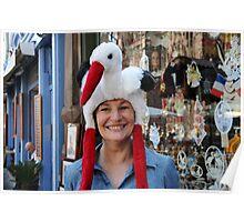 Stork Hat... Poster