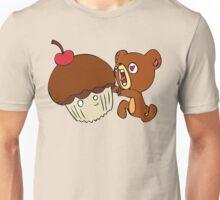Dear cupcake! Beware, the teddy! Unisex T-Shirt
