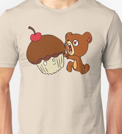 Dear cupcake! Beware, the teddy! Unisex T-Shirt
