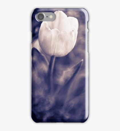 artistic tulip monochrome photography violet color iPhone Case/Skin