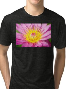 A water lily in close up Tri-blend T-Shirt