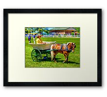 Nanny Cart Framed Print