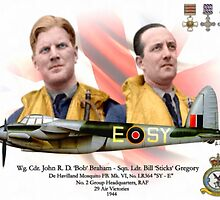 Wg Cdr John 'Bob' Braham - Sqn Ldr Bill 'Sticks' Gregory by A. Hermann