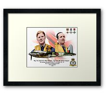 Wg Cdr John 'Bob' Braham - Sqn Ldr Bill 'Sticks' Gregory Framed Print