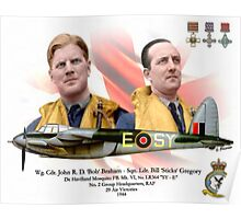Wg Cdr John 'Bob' Braham - Sqn Ldr Bill 'Sticks' Gregory Poster