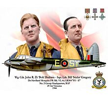 Wg Cdr John 'Bob' Braham - Sqn Ldr Bill 'Sticks' Gregory Photographic Print