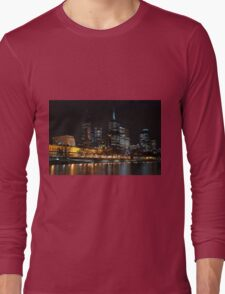 0352 Melbourne at night Long Sleeve T-Shirt