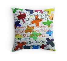 MY NEW YEARS RESOLUTIONS 2007 Throw Pillow