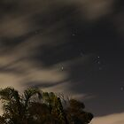 Night Sky moving clouds. by DaveZ