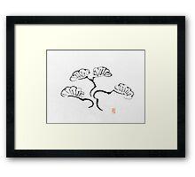 Simple Bonsai Sumi Framed Print