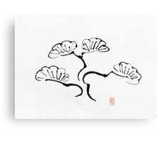 Simple Bonsai Sumi Canvas Print
