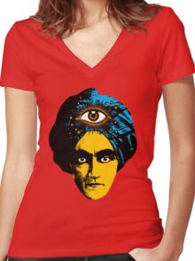 The all seeing eye Women's Fitted V-Neck T-Shirt