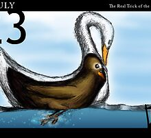 July 23rd - The Real Trick of the Duckling by 365 Notepads -  School of Faces