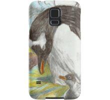 Gentoo Penguin and Chick- Falkland Islands Samsung Galaxy Case/Skin